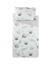 Sloth Toddler Bed Duvet Cover Set