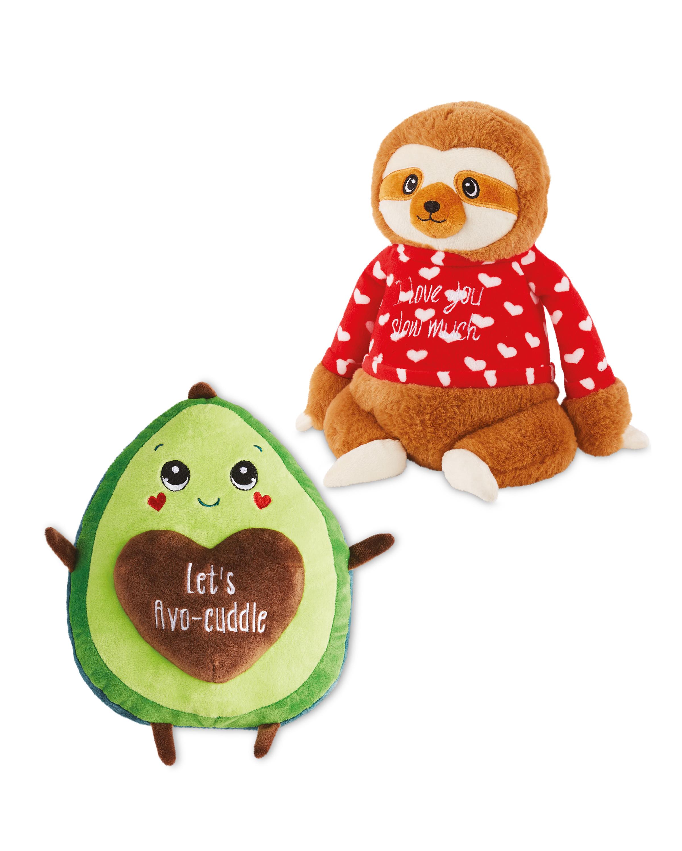 Sloth and Avocado Soft Toy