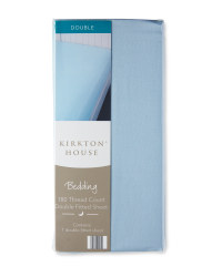 Kirkton House Double Fitted Sheet - Dark Blue