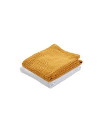 Small Cellular Blanket 2 Pack - White/Ochre