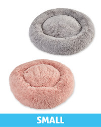 Small Comfy Long Pile Pet Bed