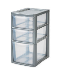 Premier Small Grey 3 Drawer Tower
