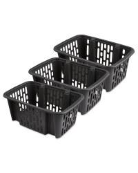 Small Dark Grey Basket 3 Pack