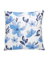 Small Indigo Floral Cushion