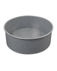 Small Marble Effect Round Bakeware - Grey