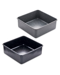 Small Marble Effect Square Bakeware