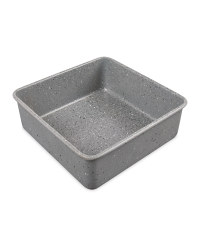 Small Marble Effect Square Bakeware - Grey