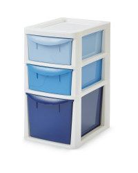 Premier Small Ombre 3 Drawer Tower - Red/ Green/ Blue