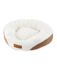 Small Oval Pet Bed - Brown