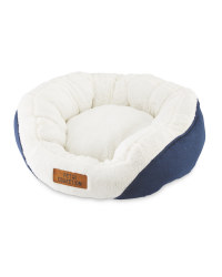 Small Oval Pet Bed - Navy