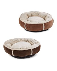 Small Plush Doughnut Pet Bed