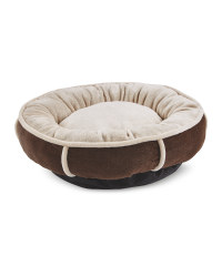 Small Plush Doughnut Pet Bed - Chocolate