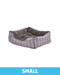 Small Plush Pet Bed Printed Knit