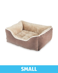 Small Plush Pet Bed - Brown
