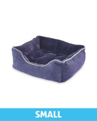 Small Plush Pet Bed - Navy