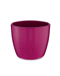 Small Shiny Ceramic Pots 15cm - Cyclamen