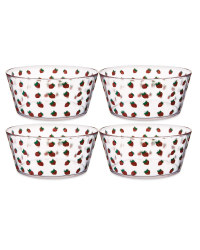 Small Strawberry Bowls 4-Pack