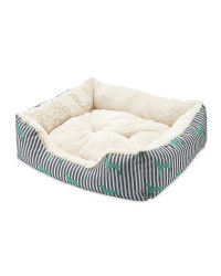 Small Teal Plush Pet Bed