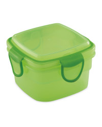 Green Square Snack Container