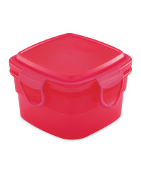 Pink Square Snack Container