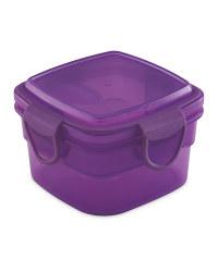 Purple Square Snack Container