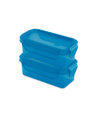 Blue Twin Snack Containers