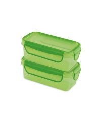 Green Twin Snack Containers