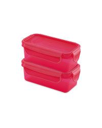 Pink Twin Snack Containers