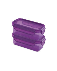 Purple Twin Snack Containers