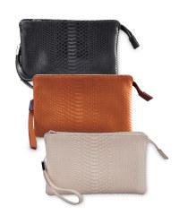 Snake Skin Clutch Bag