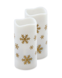 Snowflake Candle Projector 2 Pack