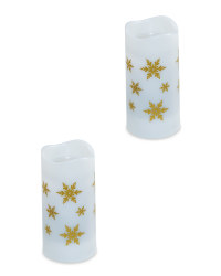 Snowflake Projector Candle 2 Pack
