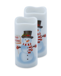 Snowman Candle Projector 2 Pack