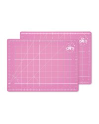 So Crafty A4 Cutting Mat 2-Pack - Pink
