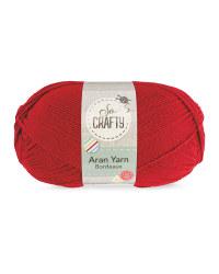 So Crafty Aran Yarn - Bordeaux