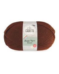 So Crafty Aran Yarn - Brown