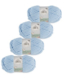 So Crafty Baby Yarn 4-Pack - Blue