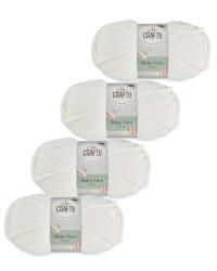 So Crafty Baby Yarn 4-Pack - Cream