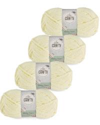 So Crafty Baby Yarn 4-Pack - Yellow