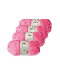 So Crafty Double Knitting Yarn - Pink
