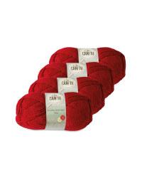 So Crafty Double Knitting Yarn - Red