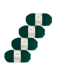 So Crafty Double Yarn 4-Pack - Dark Green