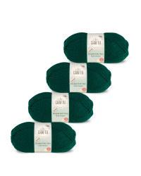So Crafty Double Yarn 4-Pack - Dark Green