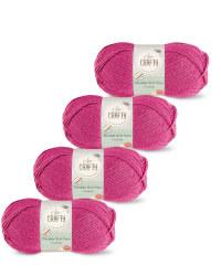 So Crafty Double Yarn 4-Pack - Fuchsia