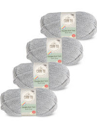 So Crafty Double Yarn 4-Pack - Grey