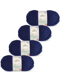 So Crafty Double Yarn 4-Pack - Navy Blue