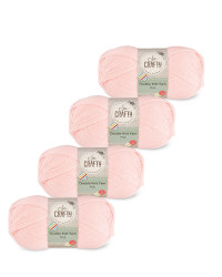 So Crafty Double Yarn 4-Pack - Pink