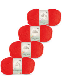 So Crafty Double Yarn 4-Pack - Red