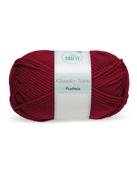 So Crafty Fuchsia Chunky Yarn