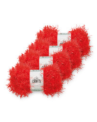 So Crafty Tinsel Red Yarn 4-Pack